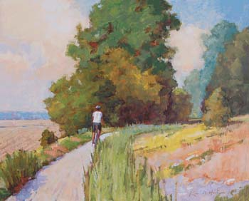 Bicycling on the Katy Trail, Morning