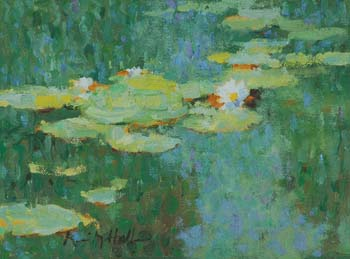 Lily Pads, White and Yellow