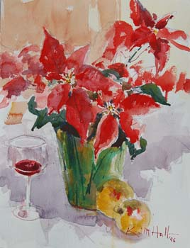 Poinsettia and Wine